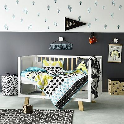 ADAIRS KIDS Baxter COT/JUNIOR BED QUILTED Quilt COVER SET BNIP geometric arrows