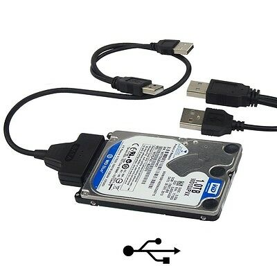 "USB 2.0 To SATA Converter Adapter Cable For 2.5"" Hard Drive Disk HDD Laptop CA"