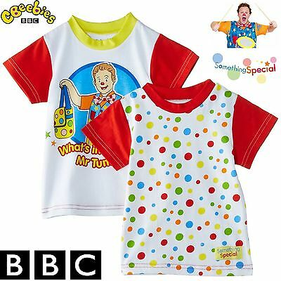 BBC Something Special® Mr Tumble Children Kids Baby Spotty T-Shirt Pack of 2