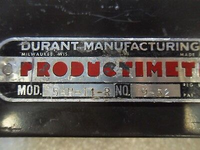 (X13-4) 1 Used Durant 5-H-11-R Productimeter Counter