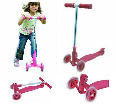 Pink Pro Glider Scooter 3 Wheel Push Scooter Outdoor Birthday Gift For Girls