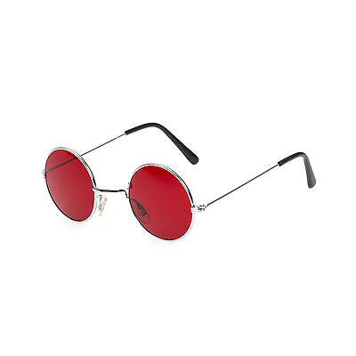 Red Lens Round Metal Frame John Lennon Glasses