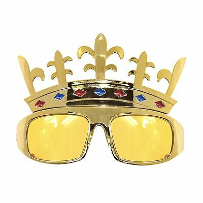 Gold King Crown Novelty Fancy Dress Stag Do Party Sunglasses