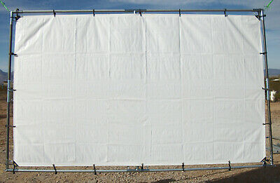 """12' x 20' OUTDOOR HANGING HOME THEATER PROJECTION MOVIE SCREEN KIT ~3/4"""" Fitting"""