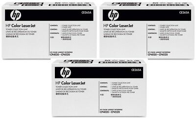 2 New Genuine Factory Sealed  HP CE265A Waste Collection Containers