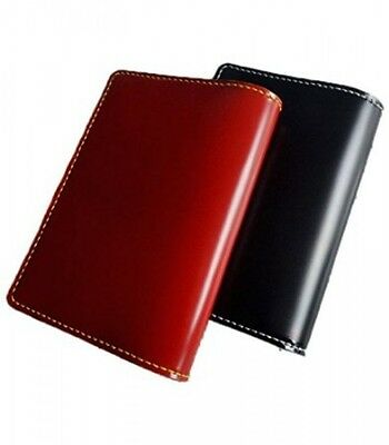 Cordovan book cover paperback leather (red)