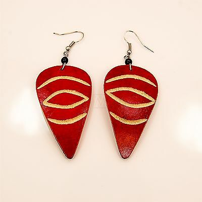 African Handmade Ethnic Jewelry Wood Maasai Earrings 694-93