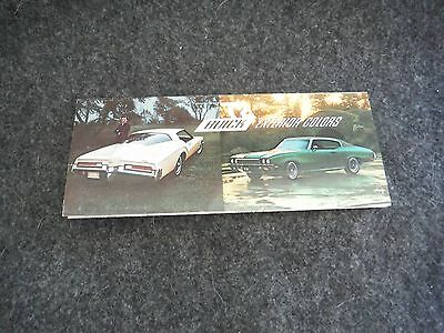 1972 General Motors Buick Exterior Colors Chart Advertising Flyer Sales Flyer