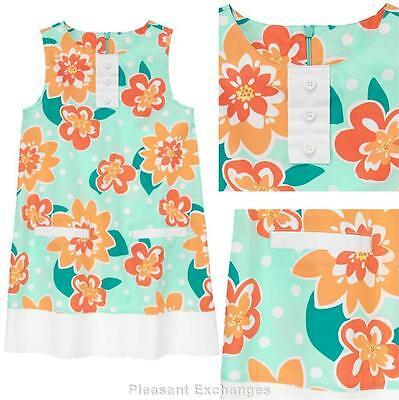 NWT Gymboree 5 or 6 SUNNY CITRUS Kid Girls Spring Sherbet Floral Ruffle Dress