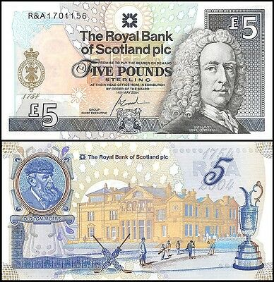 Scotland 5 Pounds, 2004, P-363, UNC