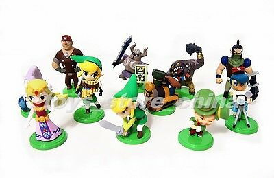 The Legend of Zelda Spirit Tracks Set Capsule Toys Figure Figurine Doll New