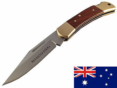 Small Winchester folding camping hunting fishing bowie pocket knife