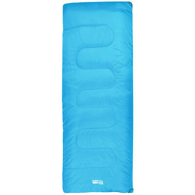 Highlander Sleepline 250 Envelope Sleeping Bag Camping Festivals 2 Season Azure