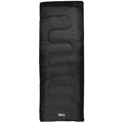 Highlander Sleepline 250 Envelope Two Season Sleeping Bag Hiking Festivals Black