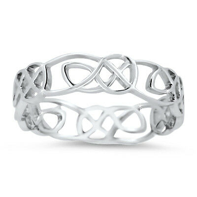 925 Sterling Silver High Quality Handmade Celtic Wedding Ring