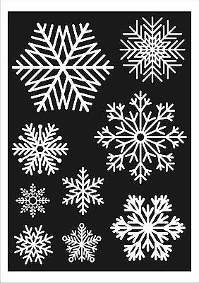 27 Large Snowflake Window Clings Frozen Party or Christmas Reusable Decorations
