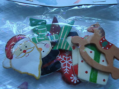 Wooden Christmas Embellishments Suit Craft Work