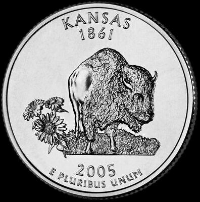 "2005 D Kansas State Quarter New U.S. Mint ""Brilliant Uncirculated"""
