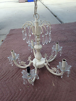 Vintage Shabby Country French Chic Crystal Chandelier