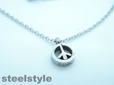 Womens Silver Stainless Steel 316L Pendant Necklace Pacific Design