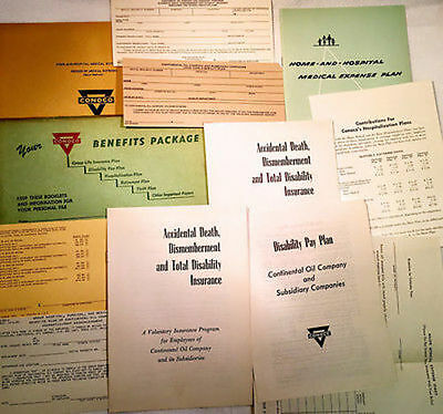 Vintage 1955 Continental Oil Company CONOCO Retirement Package Pamplets