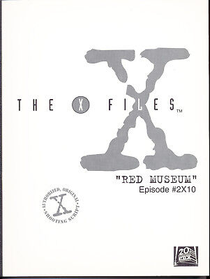 THE X-FILES RED MUSEUM AUTHORIZED ORIGINAL SHOOTING SCRIPT Duchovny Anderson
