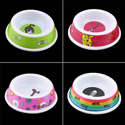 Plastic Pet Dog Cat Puppy Go Slow Eating Feed Bowl Food Water Feeder Dish OG