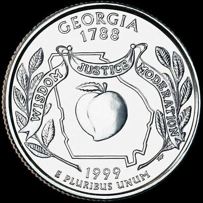 "1999 D Georgia State Quarter New U.S. Mint ""Brilliant Uncirculated"""
