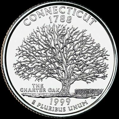 "1999 D Connecticut State Quarter New U.S. Mint ""Brilliant Uncirculated"""