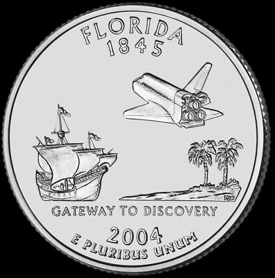 "2004 D Florida State Quarter New U.S. Mint ""Brilliant Uncirculated"""