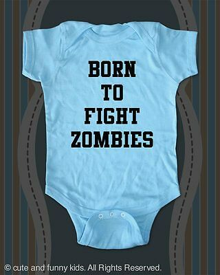 Born to Fight Zombies - baby one piece bodysuit, toddler, youth shirt