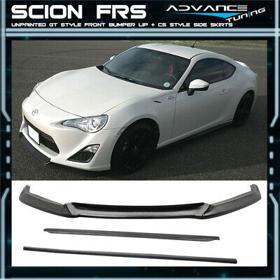 For 13-16 Scion FRS GT86 FT86 GT Style Front Bumper Lip Spoiler CS Side Skirts