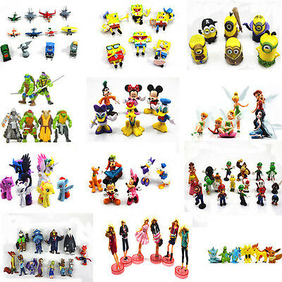Cake Topper Decoration Mario Barbie Sponge Bob Micky Mouse Clubhouse Set PVC Toy