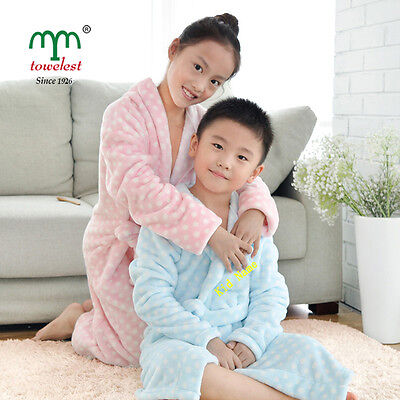 New 2016 Personalized Customized Kids Bath Robe Embroidered Children Bathrobe