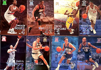 Lot de 24 Cartes cards basket NBA Skybox Metal Smith 1999 SANS DOUBLES