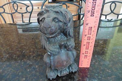 vintage hand carved wooden lion crest wall plaque art claw shelf bracket corbel