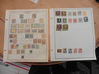 D52 Montenegro stamps Minkus pages 1874-1907 1907-1943 hinged