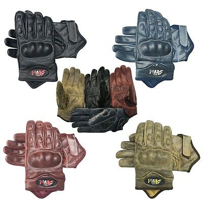 Full finger motorbike motorcycle summer/winter sports gloves crunch leather 9004