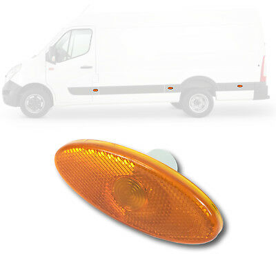 1x RENAULT MASTER MK3 / VAUXHALL MOVANO MK2 AMBER SIDE MARKER LAMP 261B00001R