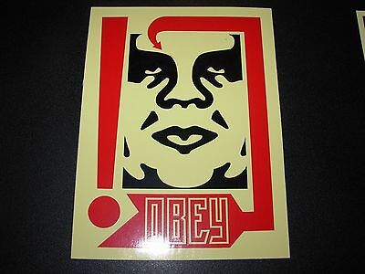 """SHEPARD FAIREY Obey Giant Sticker 4 X 5.5"""" CREAM OG ANDRE from poster print"""