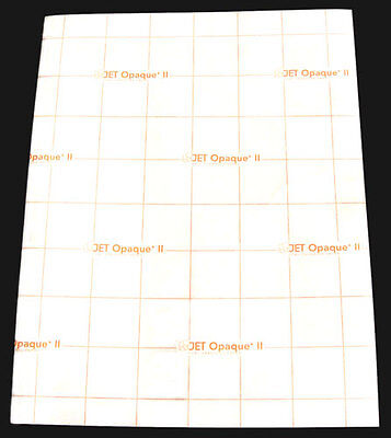 25p 8.5x11 Jet-Opaque II Inkjet Transfer Paper for dark color fabric, iron-on
