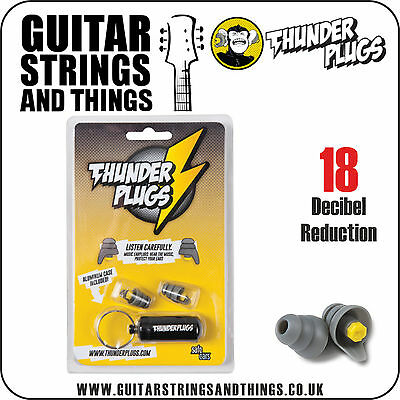 TPB1 Thunderplugs 18 Decibel Reduction Ear Plugs with Key Ring Carry Case