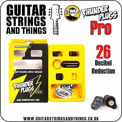 TPPRO1 Thunder Plugs PRO 26 Decibel Reduction Ear Plugs with Key Ring Carry Case