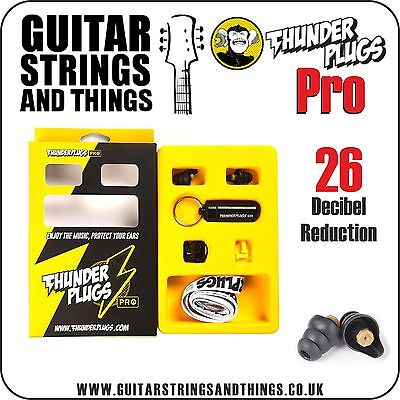 TPPRO1 Thunderplugs PRO 26 Decibel Reduction Ear Plugs with Key Ring Carry Case