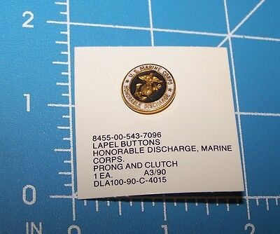 USMC MARINE CORPS HONORABLE DISCHARGE LAPEL HAT PIN BADGE BUTTON P38 Can Opener