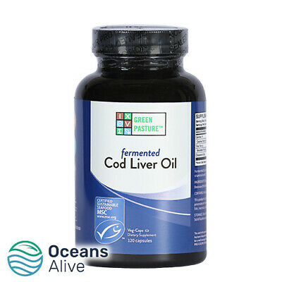 GREEN PASTURE - Blue Ice Fermented Cod Liver Oil – 120 Capsules