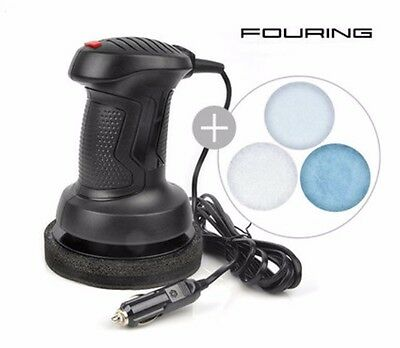 FOURING Red Wax 6 inches Power 3300 Car Polisher DC 12V Car Waxer Red NEW
