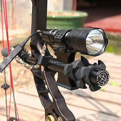 Tactical C8Q5 600 lm Archery Compound Bow Sight Flashlight Damper Mount Hunting