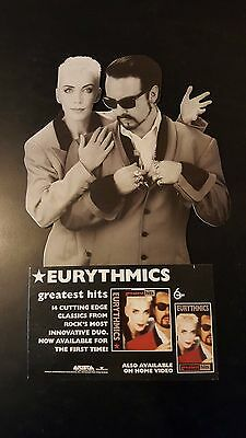 Vintage 1991 Eurythmics Greatest Hits Counter Display Standee Lennox CD Rock