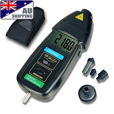AU Ship DT2236B Digital Laser 2in1 Photo Contact Tachometer RPM
